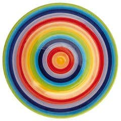 Hand-painted Rainbow Plate