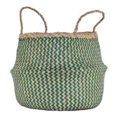 Large Zig Zag Weave Seagrass Basket