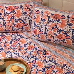 Floral Trellis Duvet Set and Two Pillowcases