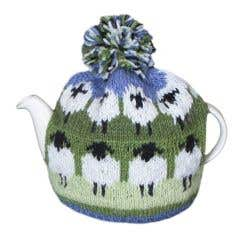 Flock of Sheep Wool Tea Cosy