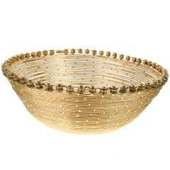 Recycled Gold Bike Bowl