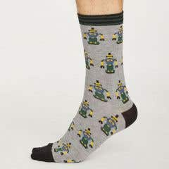 Thought Men's Robot Bamboo & Organic Cotton Blend Socks