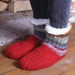 Women's Wool Seville Slipper Socks - Large