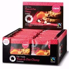 Traidcraft Chewy Fruit & Oat Cookies Display Box (16x45g)