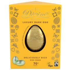 Divine 70% Dark Chocolate Luxury Easter Egg with Mini Eggs
