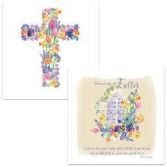 Religious Floral Easter Cards
