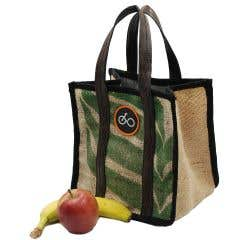 100% Recycled Jute Coffee Sack Lunch Bag