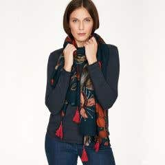 Thought 100% Bamboo Josefa Navy Scarf