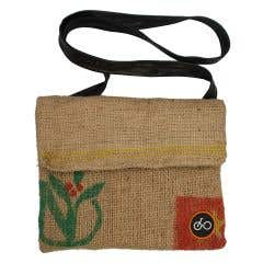 100% Recycled Jute Coffee Sack Lightweight Shoulder Bag