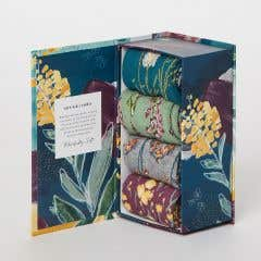 Thought Women's Garden Flower Bamboo, Recycled Polyester and Organic Cotton Sock Gift Pack