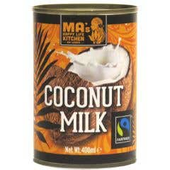 Ma's Happy Life Kitchen Organic & Fairtrade Coconut Milk (400ml)