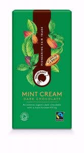 Fairtrade organic dark chocolate with mint cream from Traidcraft