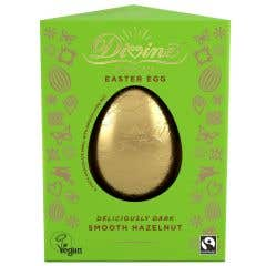Divine Hazelnut Truffle Dark Chocolate Easter Egg (90g)