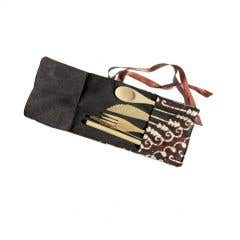 Bamboo Cutlery Set with Pouch