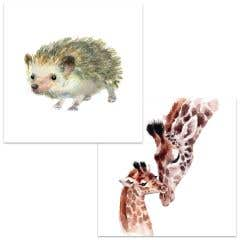 Watercolour Animals Cards