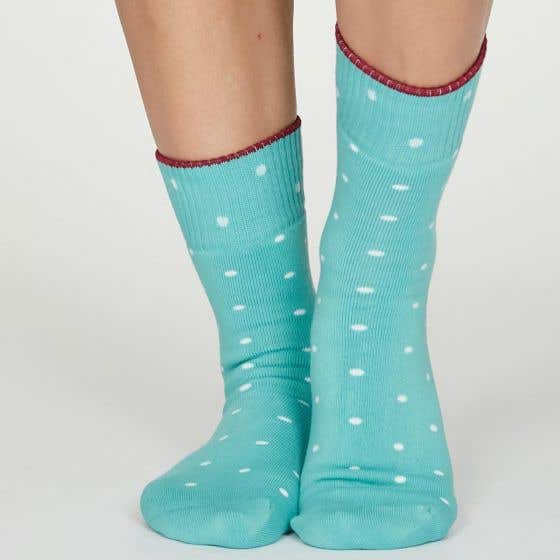 Thought Women's Organic Cotton Blend Spotted Turquoise
