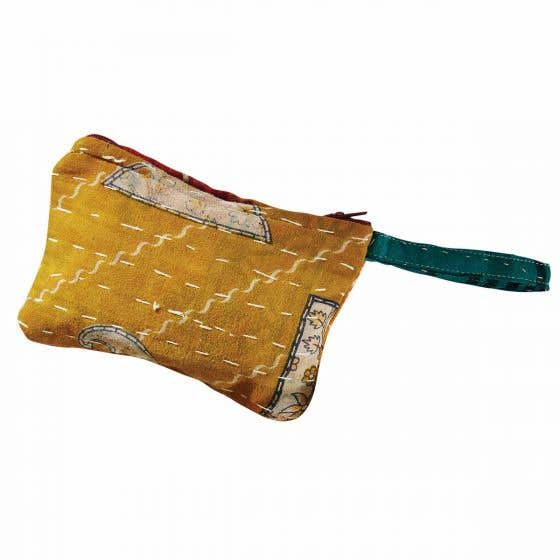 Handmade Kantha Embroidered Coin Purse