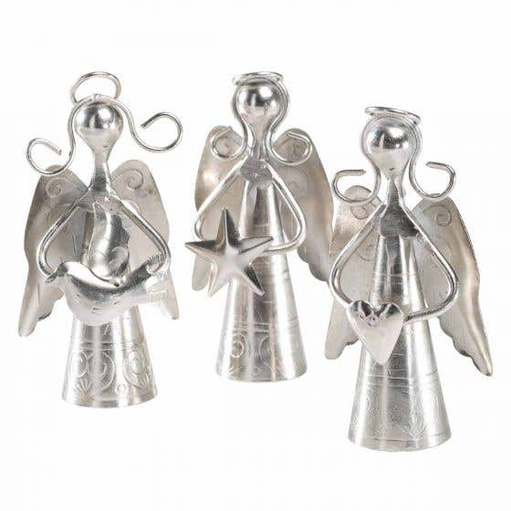 Handmade Iron Metal Angel with Bell