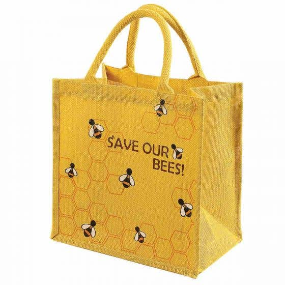 Save The Bees Jute Shopper