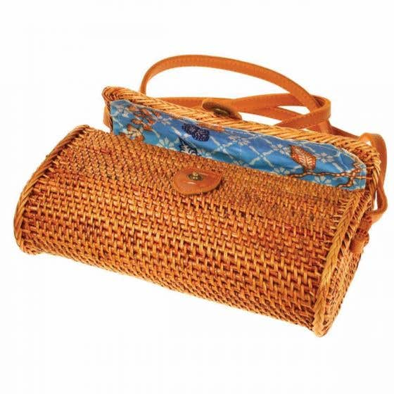 Recycled Brown Rattan Bag