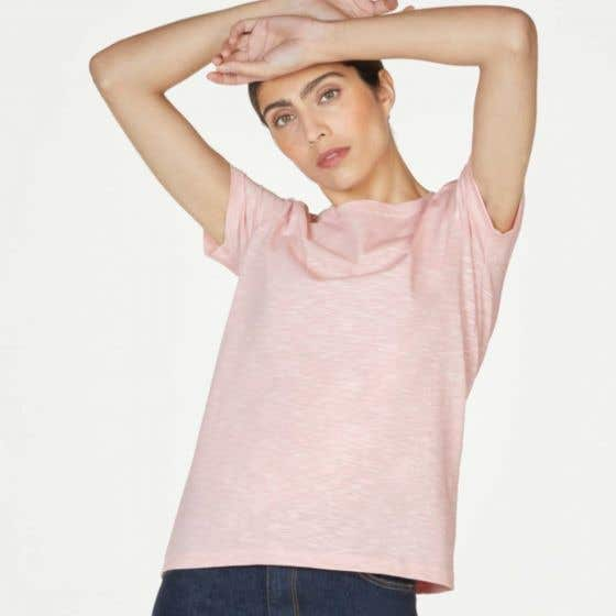 Thought Fairtrade and Organic Cotton Ballet Pink T-Shirt Size 10