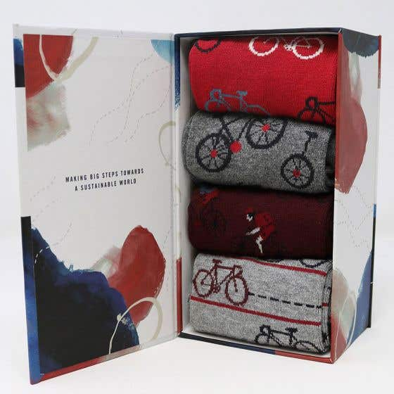 Thought Men's Bamboo Blend Micah Bicycle Multi Sock Pack