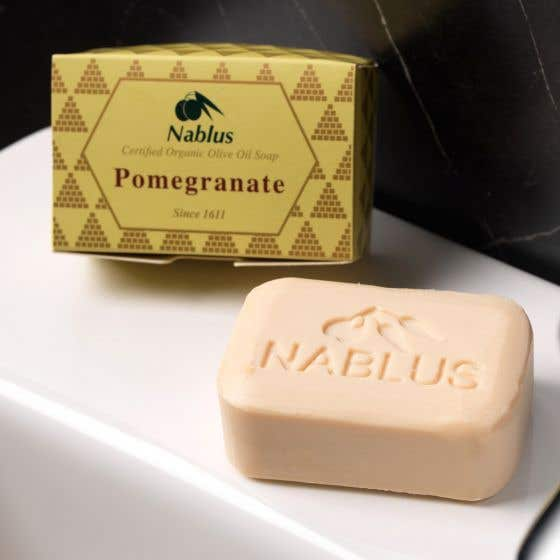 Nablus Organic Olive Oil Soap with Pomegranate 100g SINGLE