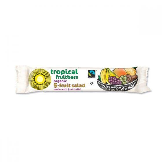 Tropical Wholefood Fair Trade Organic 5 Fruit Salad Bar (24x40g) CASE