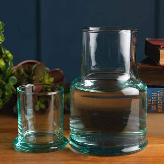 Recycled Glass Water Carafe