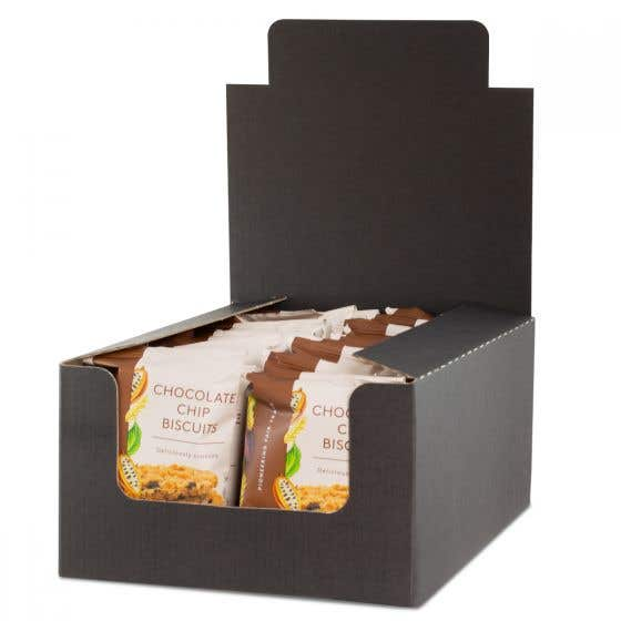 Traidcraft Chocolate Chip Biscuits Display Box (20x28g)
