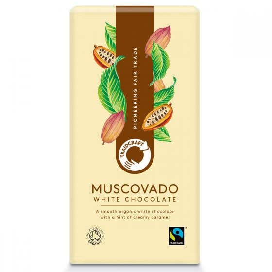 Traidcraft Organic Muscovado White Chocolate (10x100g) CASE