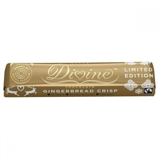 Divine Milk Chocolate Gingerbread Crisp Bar (35g) SINGLE
