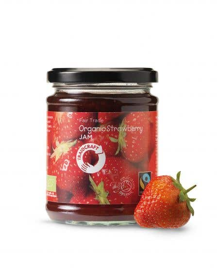 Traidcraft Organic Strawberry Jam (340g) SINGLE