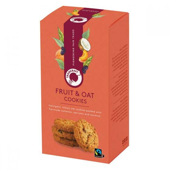 Traidcraft Chewy Fruit & Oat Cookies (8x180g) CASE