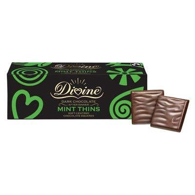 Divine Dark Chocolate Mint Thins (12x200g)