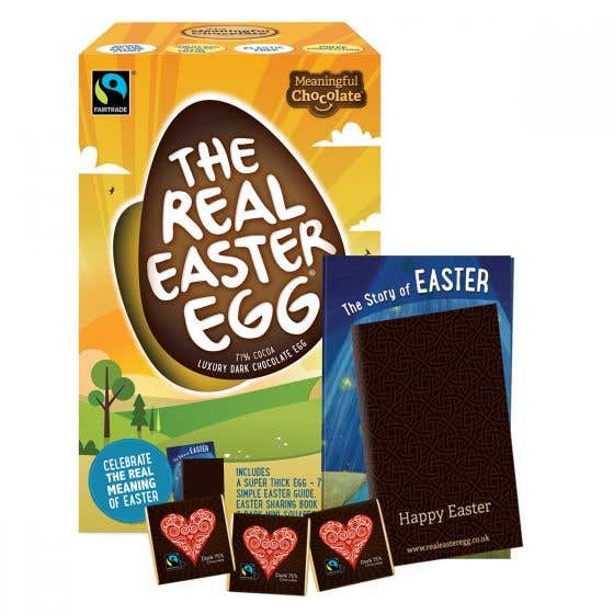 The Real Easter Egg Dark Chocolate with Chocolate Squares