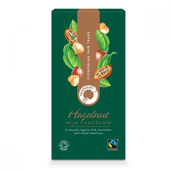 Traidcraft Organic Milk Chocolate with Hazelnuts (100g) SINGLE