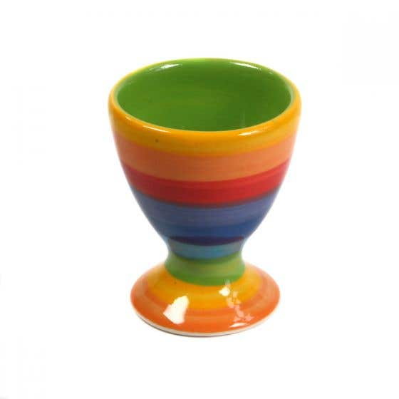 Hand-painted Rainbow Egg Cup