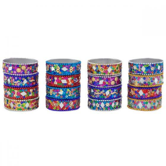 Glitter Tealight Holders - Set of 16