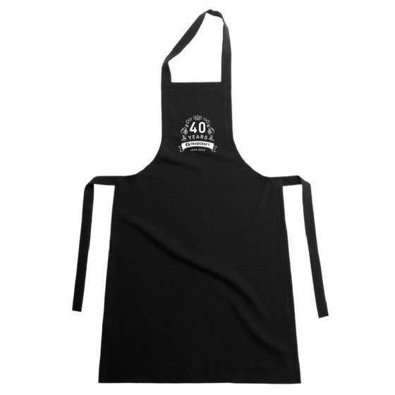 Traidcraft 40th Anniversary Black Apron