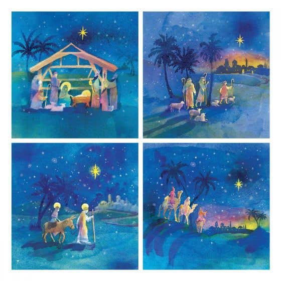 Scenes of the Christmas Story Cards