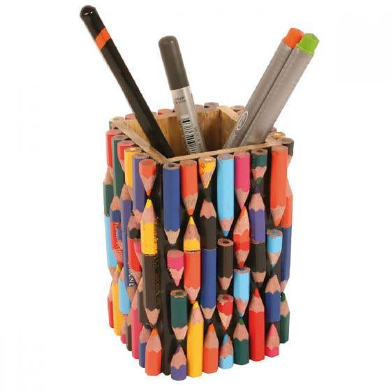 Recycled Crayons Pencil Pot