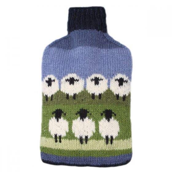 Flock of Sheep Hot Water Bottle Cover