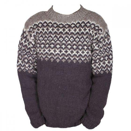 Men's Wool Cliften Charcoal Sweater - Large / Extra Large