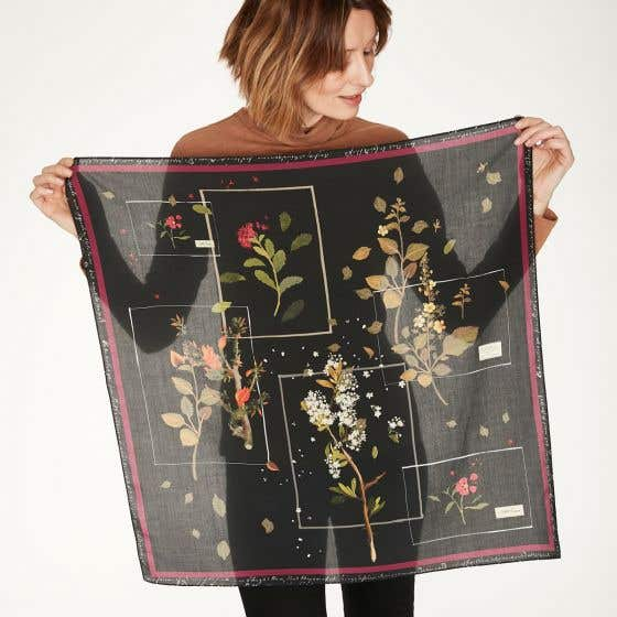 Thought 100% Tencel Elsie Black Scarf in Gift Box