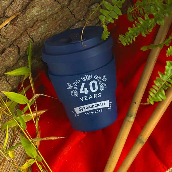 Traidcraft 40th Anniversary Bamboo E Coffee Cup