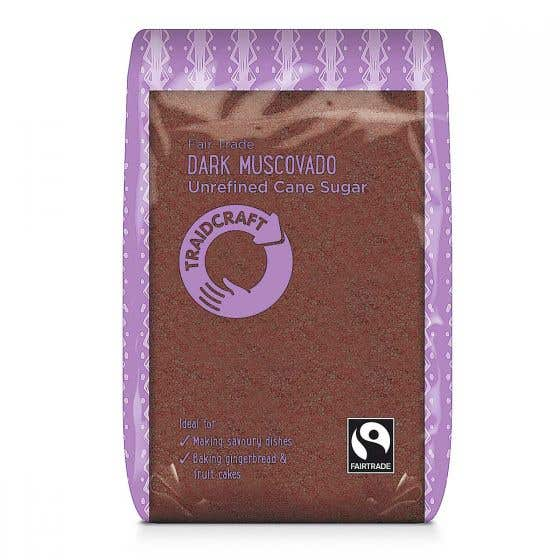 Traidcraft Dark Muscovado Sugar (500g) SINGLE