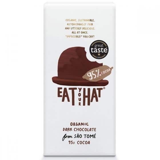 Eat Your Hat Organic 95% Dark Chocolate from São Tomé (10x81g) - CASE