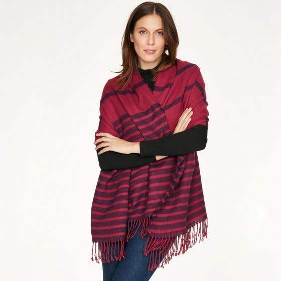 Thought 100% Recycled Maurice Fuchsia Scarf in Gift Box