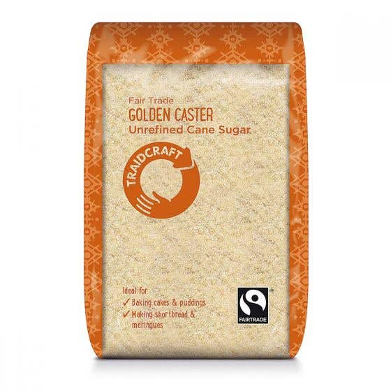 Traidcraft Golden Caster Sugar (6x500g) CASE